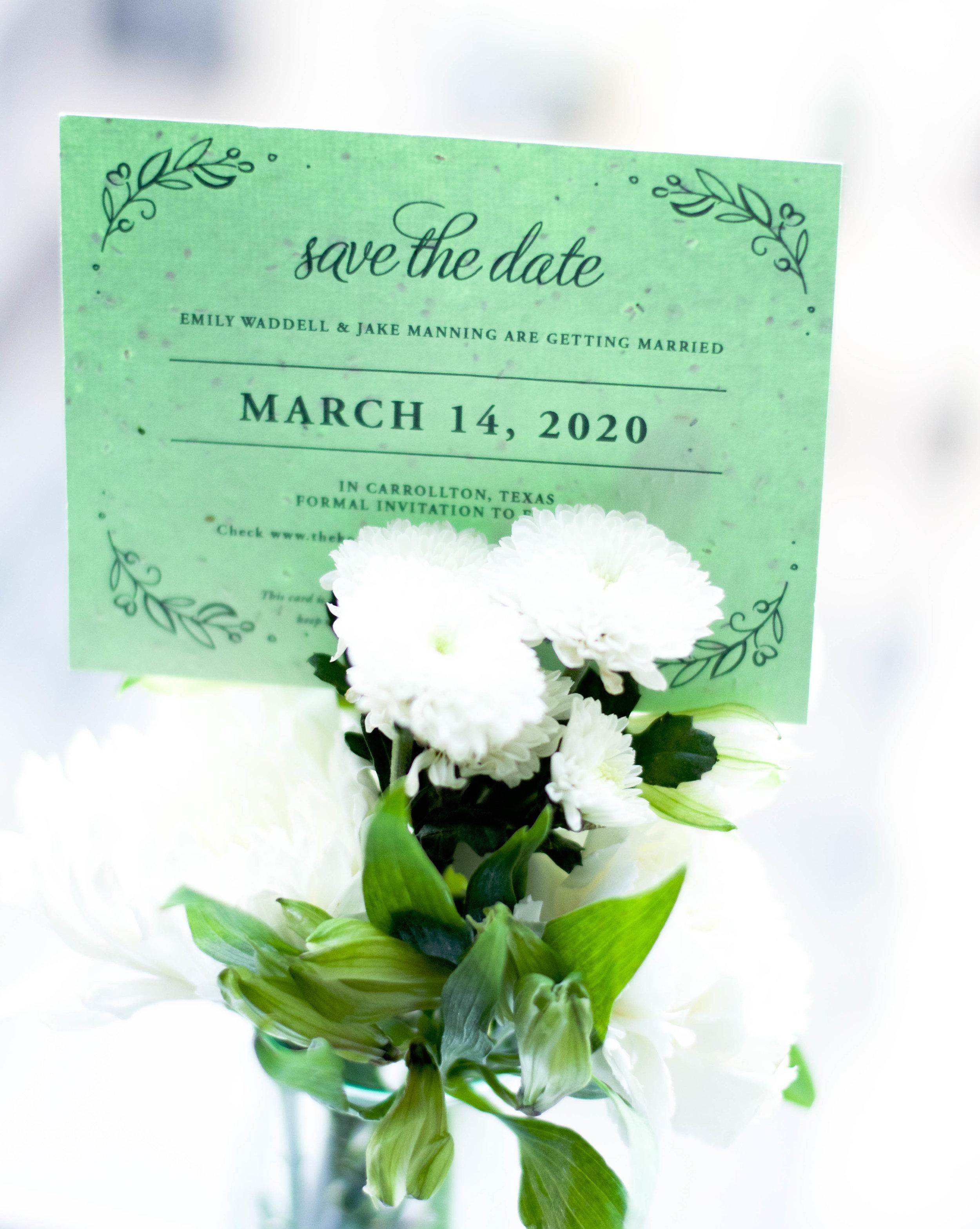 plantable seed paper wedding invites