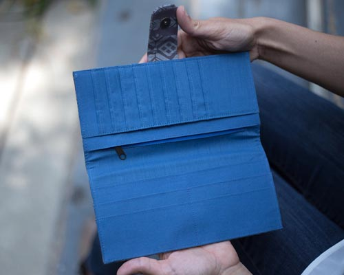 ethically made phone wallet