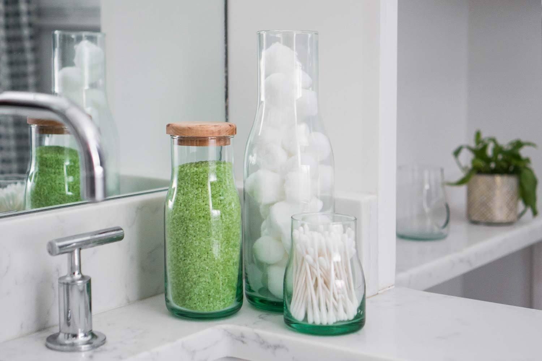 recycled glass storage