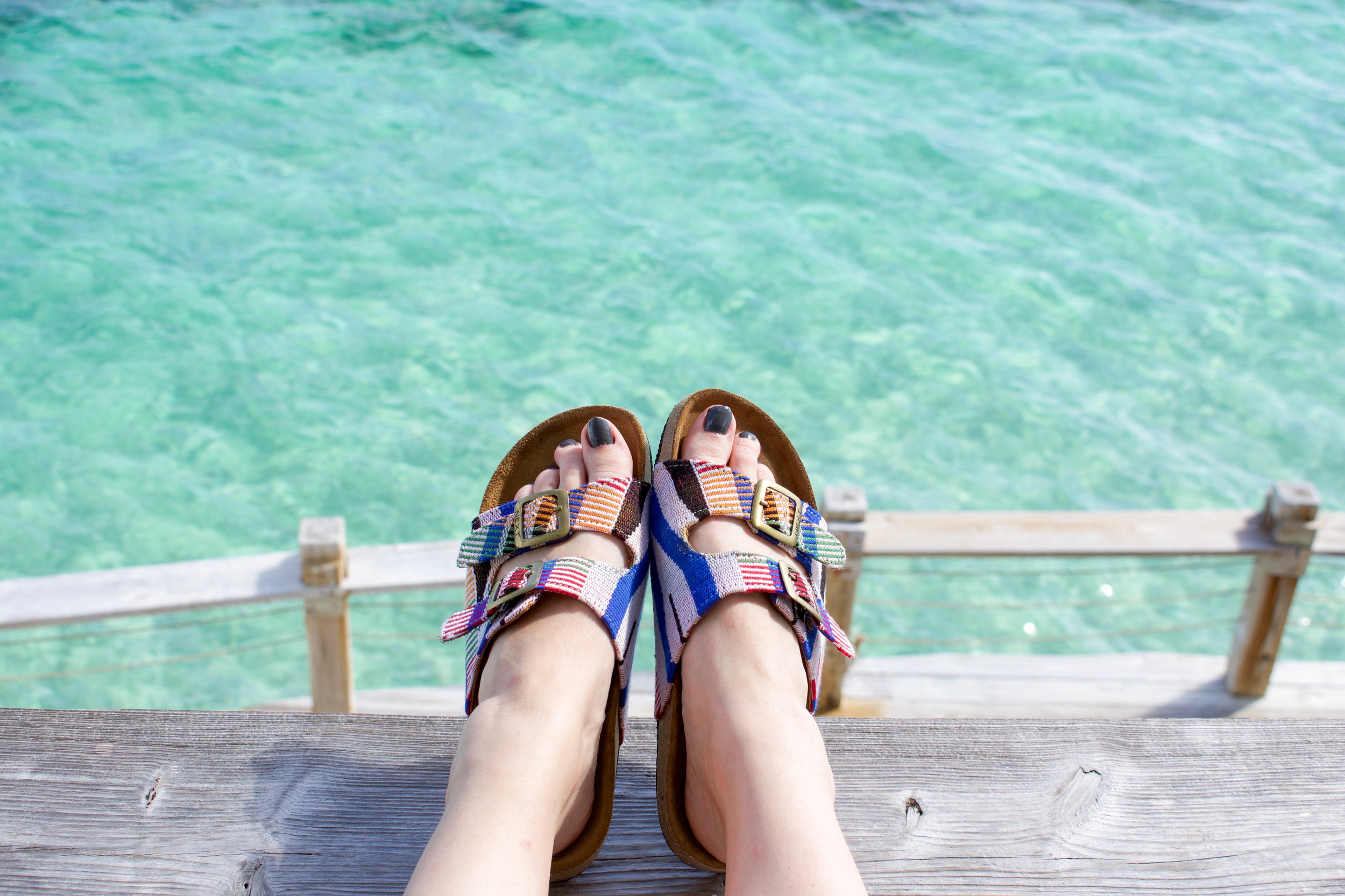 Ethically wearing  Mawu Lolo Sandals