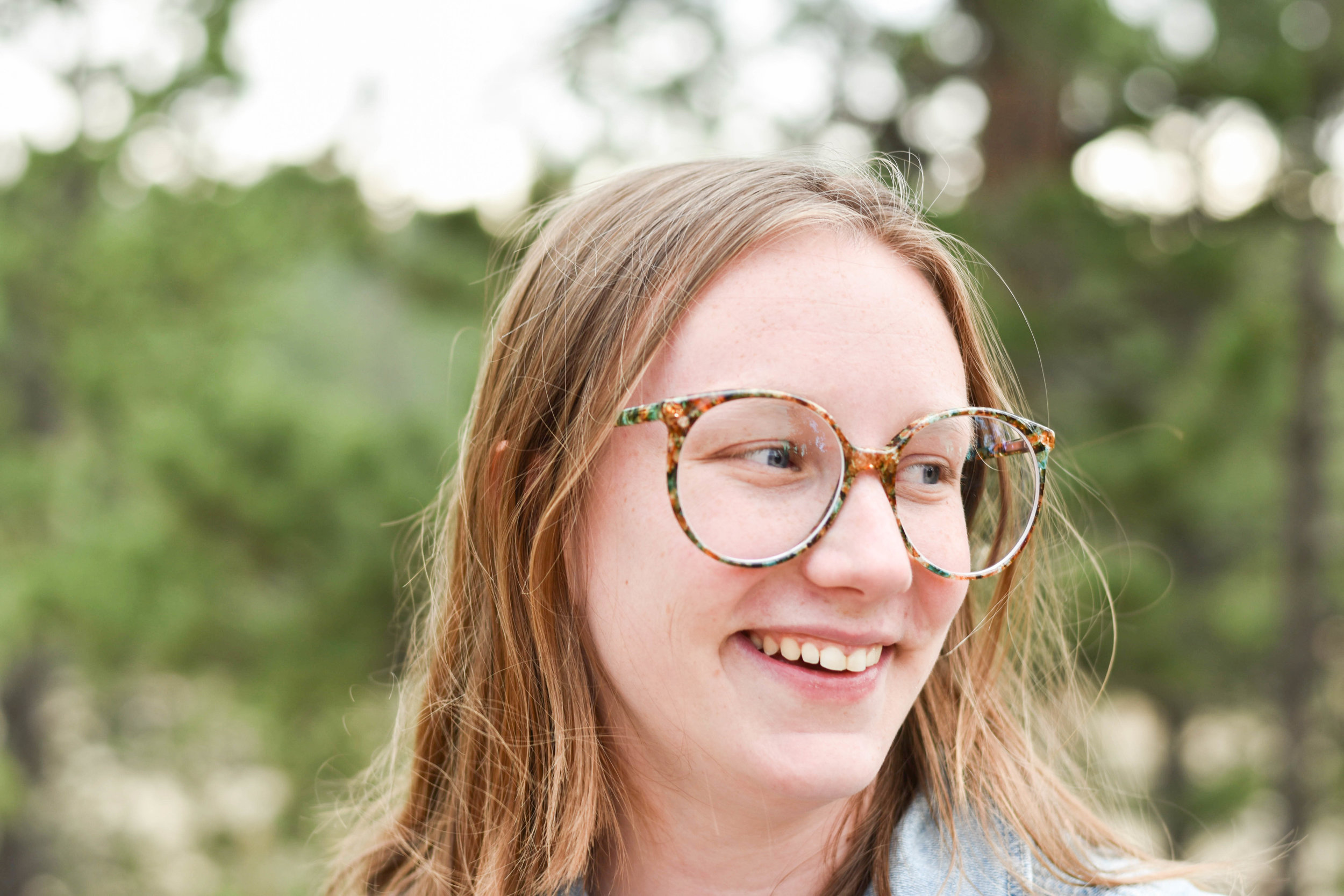 Sustainably styled in Retro glasses from  Retrospecced