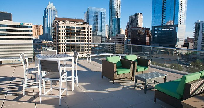 Outdoor Break Room (Photo: National Business Furniture)