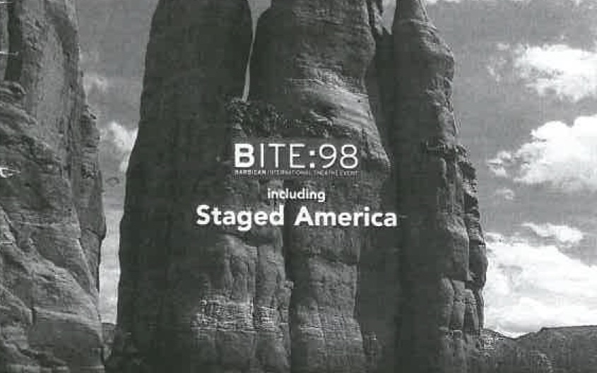 Crop of Inventing America programme brochure   © Barbican Centre