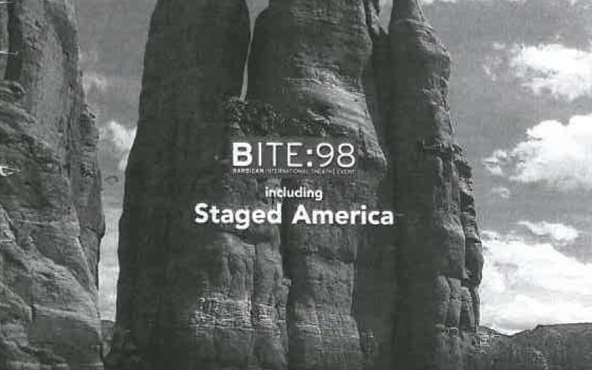Crop of Inventing America programme brochure   © Barbican Centre