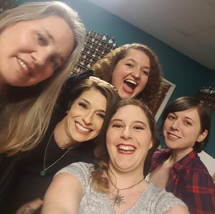 With my fellow Nasty! authors: Diana Kirk, Tara Dublin, Kim Vodicka and Eleanor Rose. Photo by Eleanor Rose.