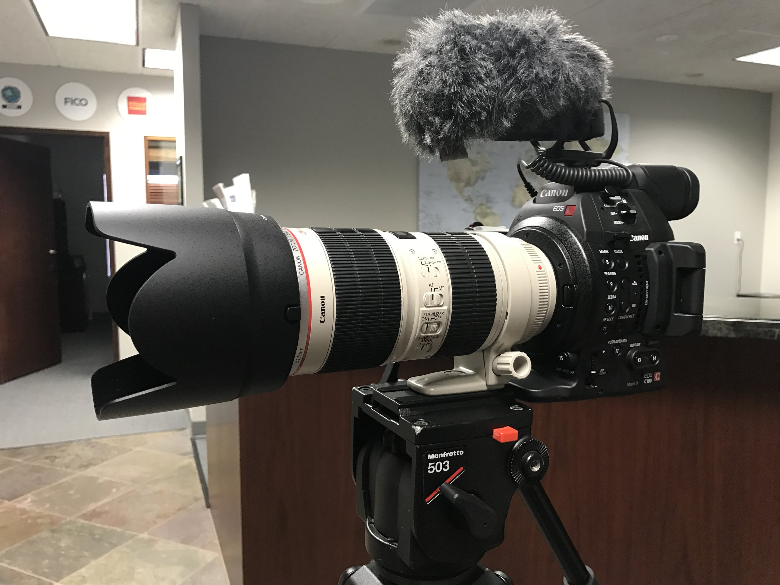 Canon C100mkii with the 70-200mm f2.8 mkii