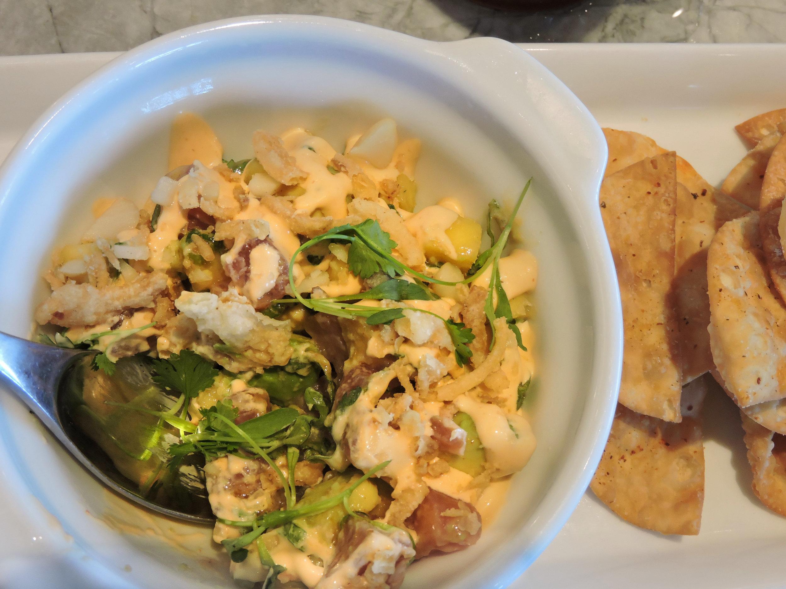 Earls Kitchen and Bar Tuna Poke Aerial