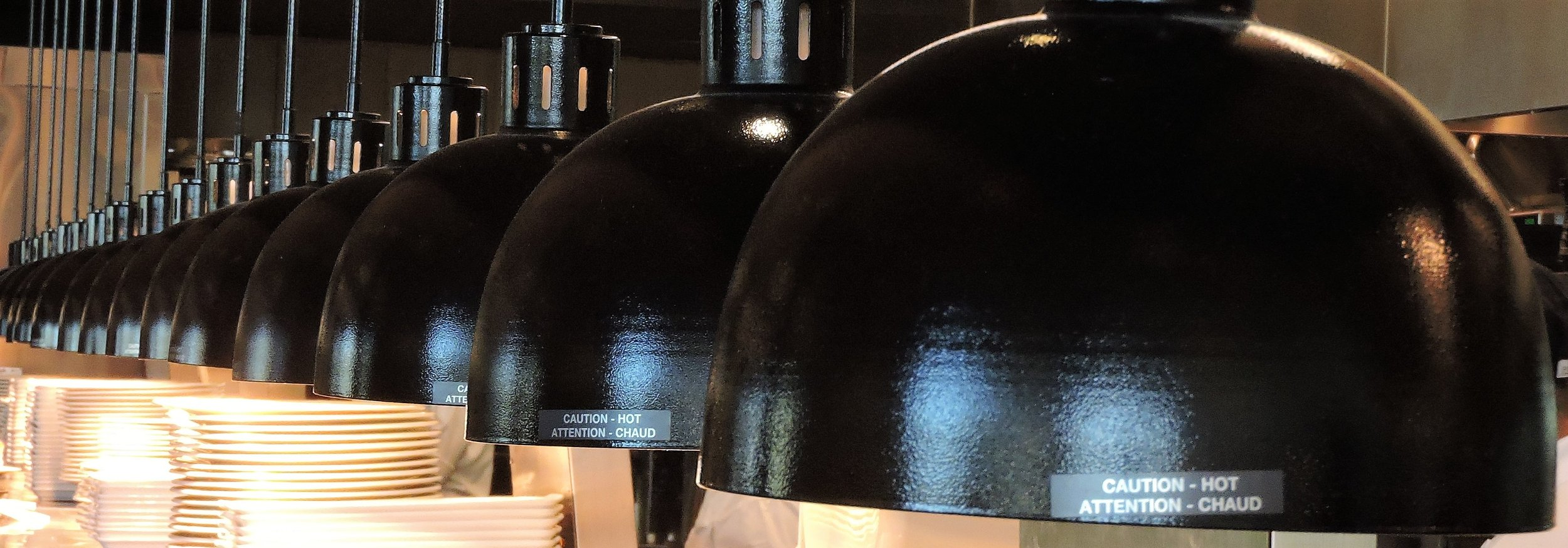 Earls Kitchen and Bar Kitchen Hot Lamps