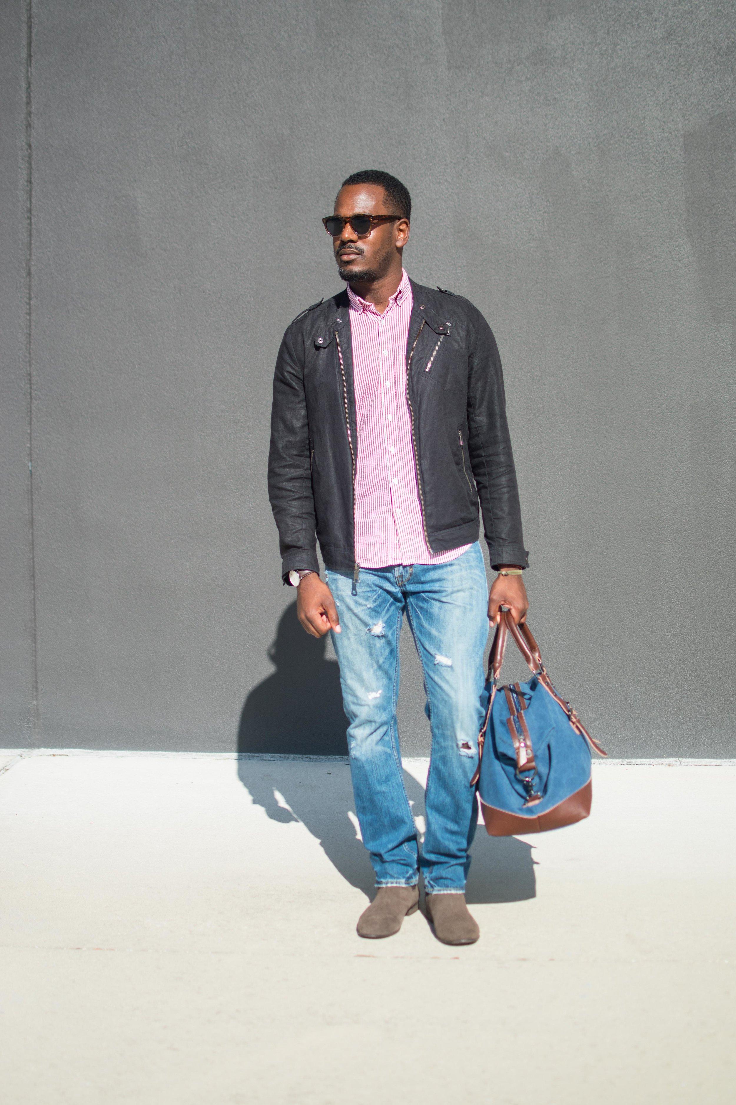 Canvas Biker jacket casual mens style.jpg