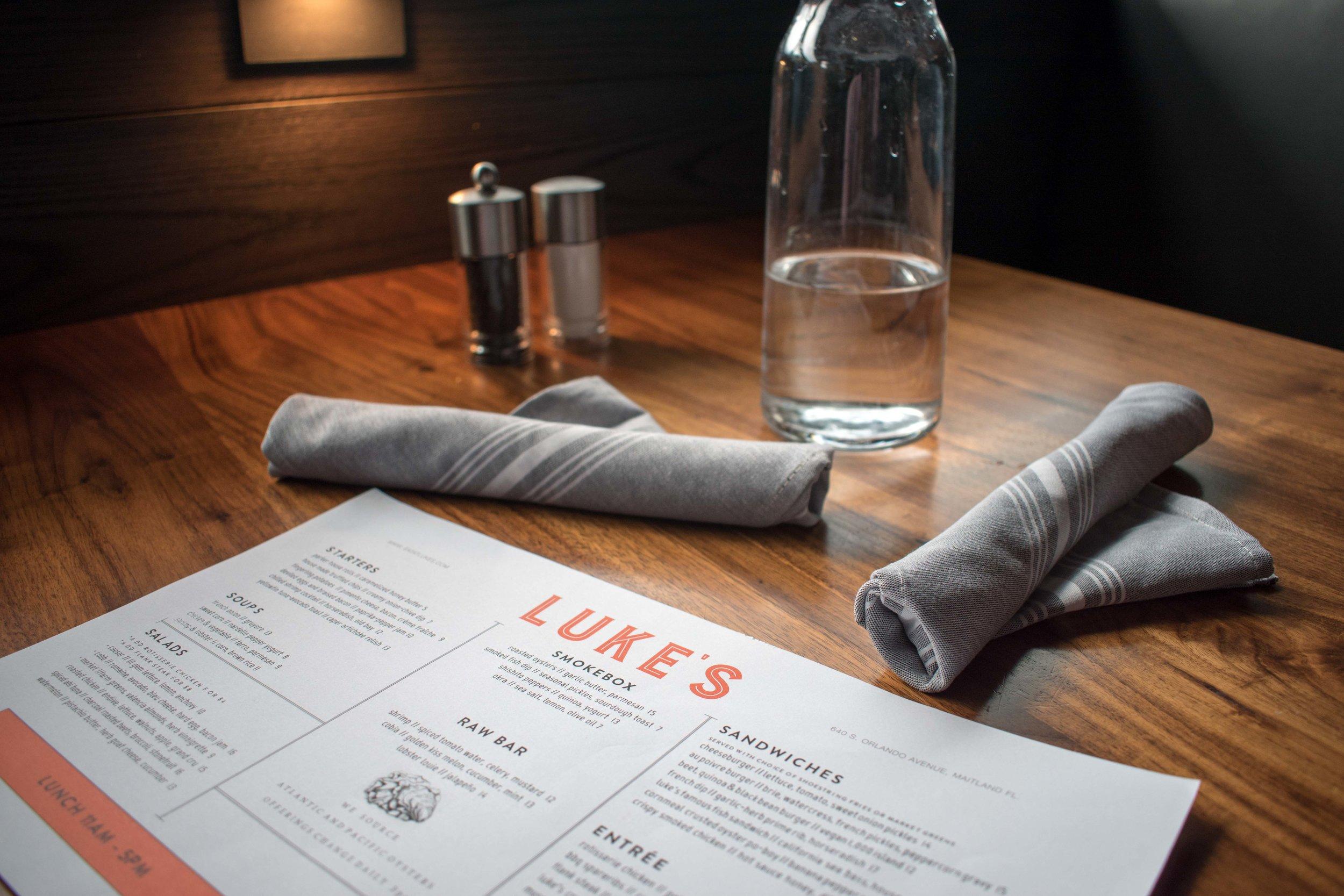 Luke's Kitchen and Bar Menu