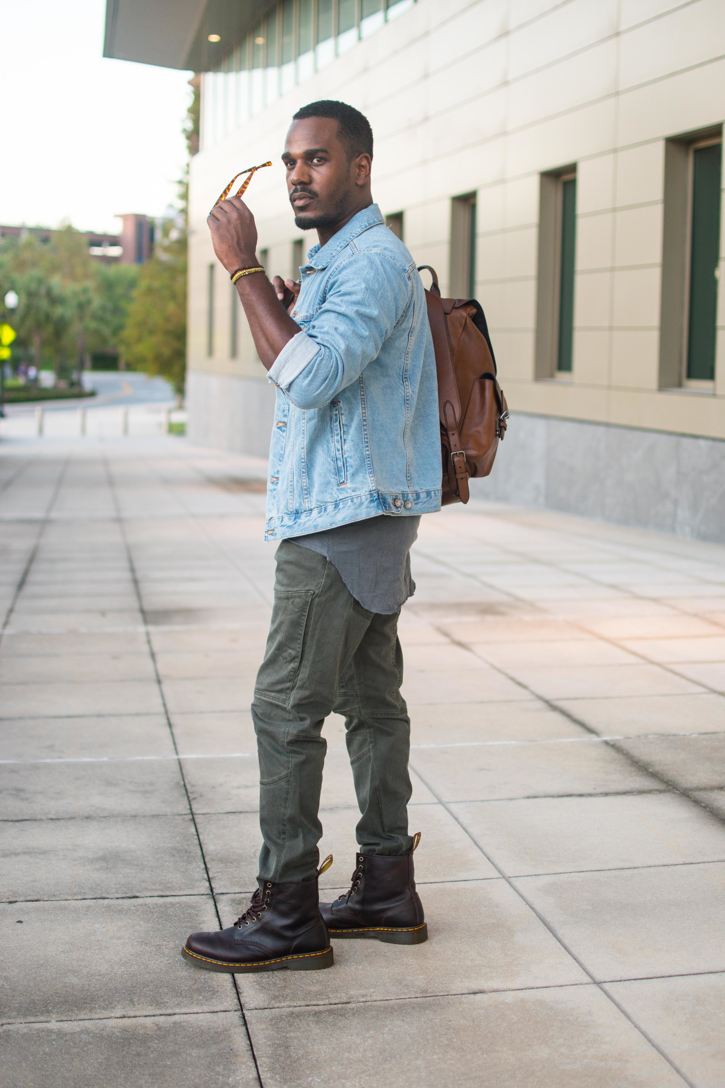 easy denim jacket style mens