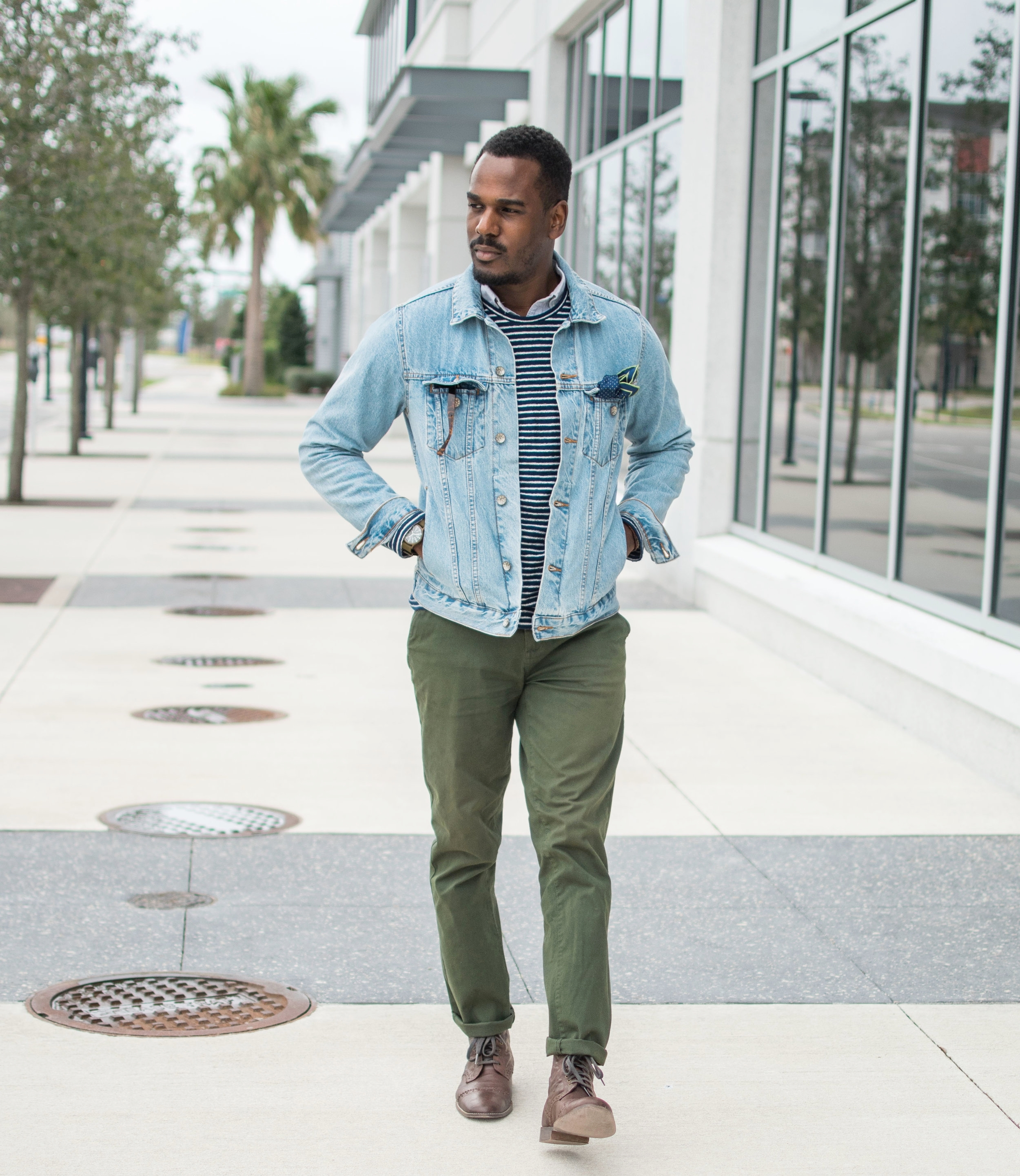 how to wear a denim jacket mens