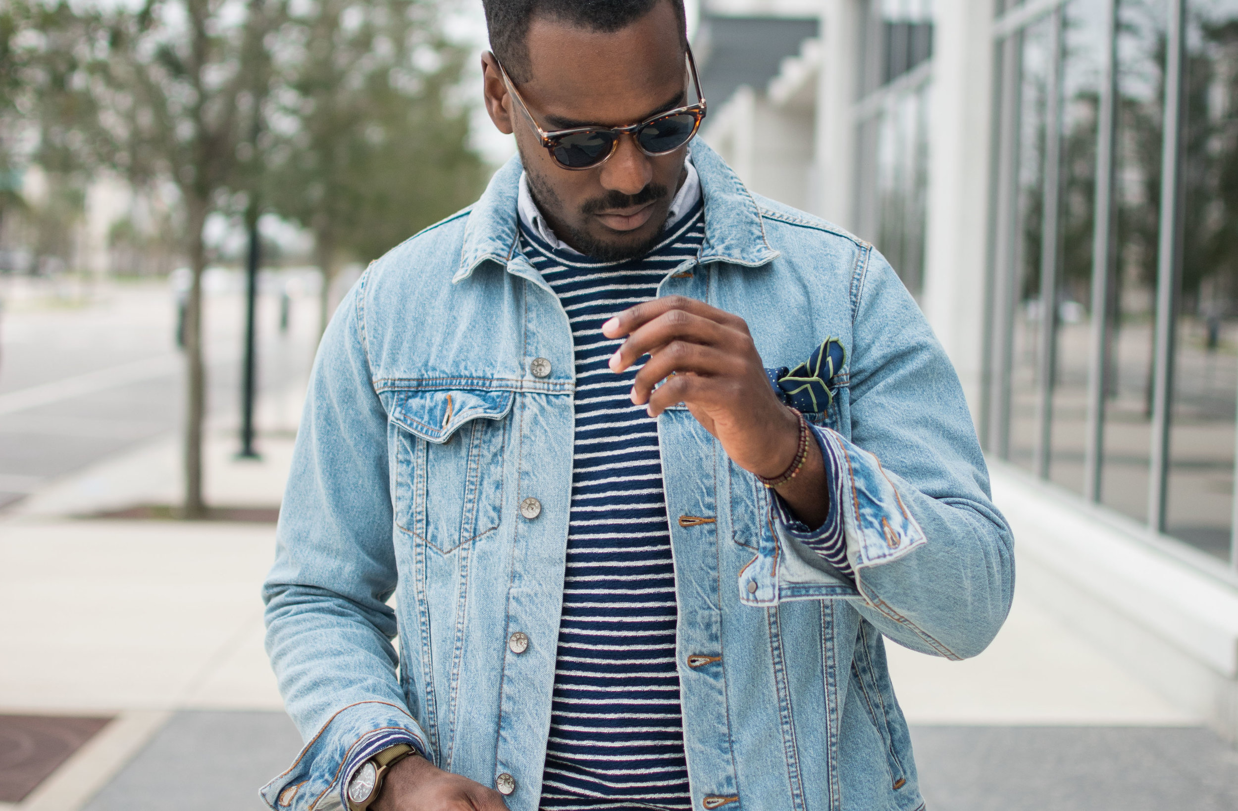 denim jacket style mens