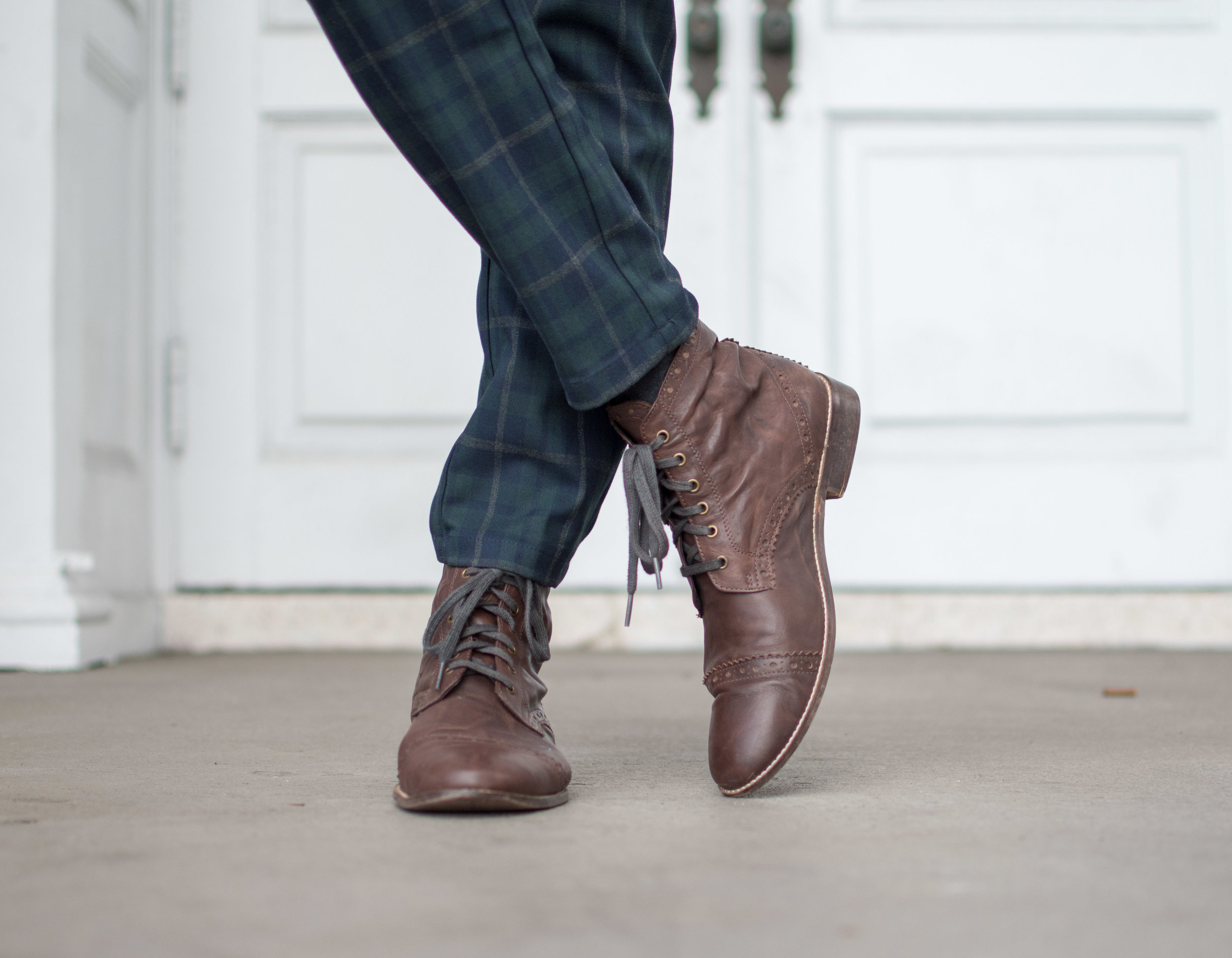 brown leather boots mens style