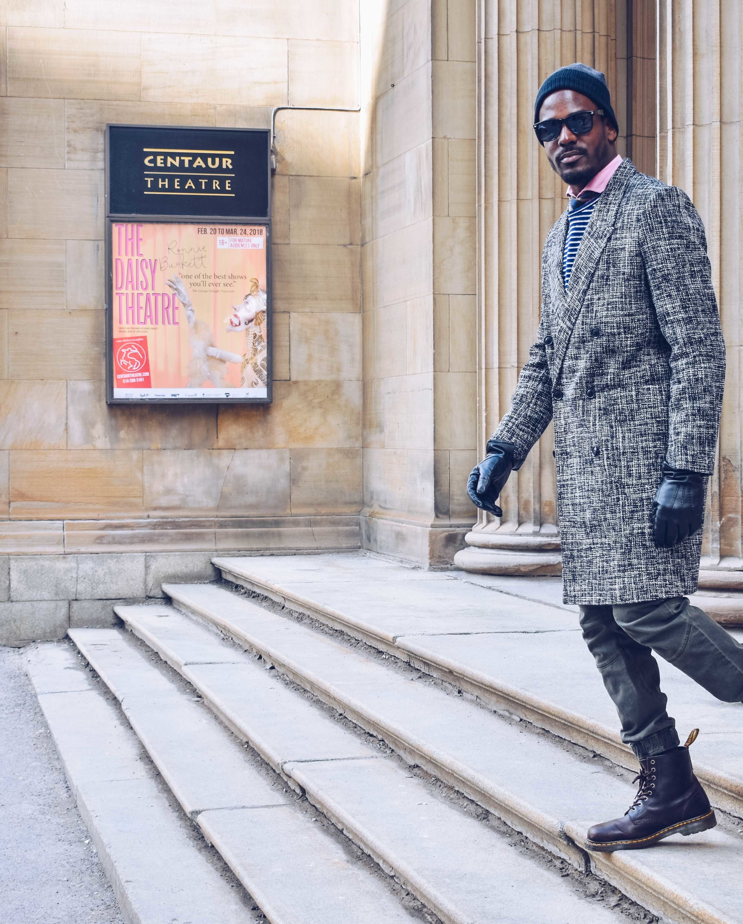 greg mcgregorson montreal travel style asos new look coat dr martens boots