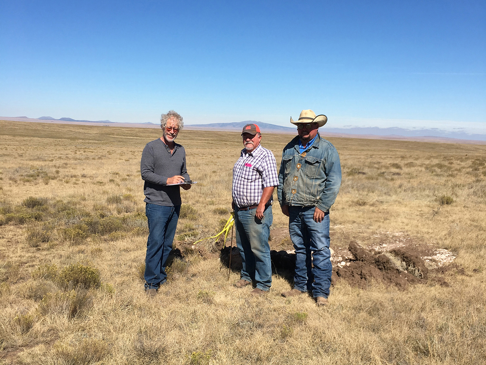 Rich in New Mexico with ranch owners who are building a wind farm