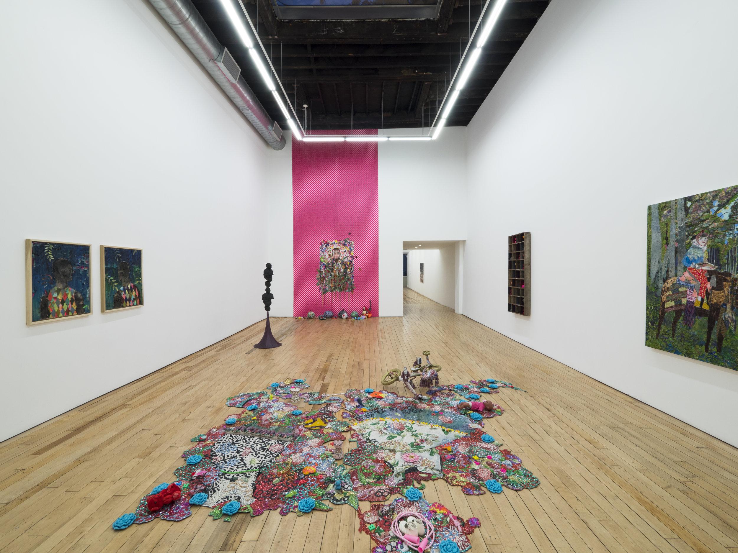 Installation view, All That Glitters , Rachel Uffner Gallery