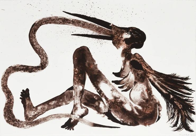 Wangechi Mutu, Snake Eater , 2014.