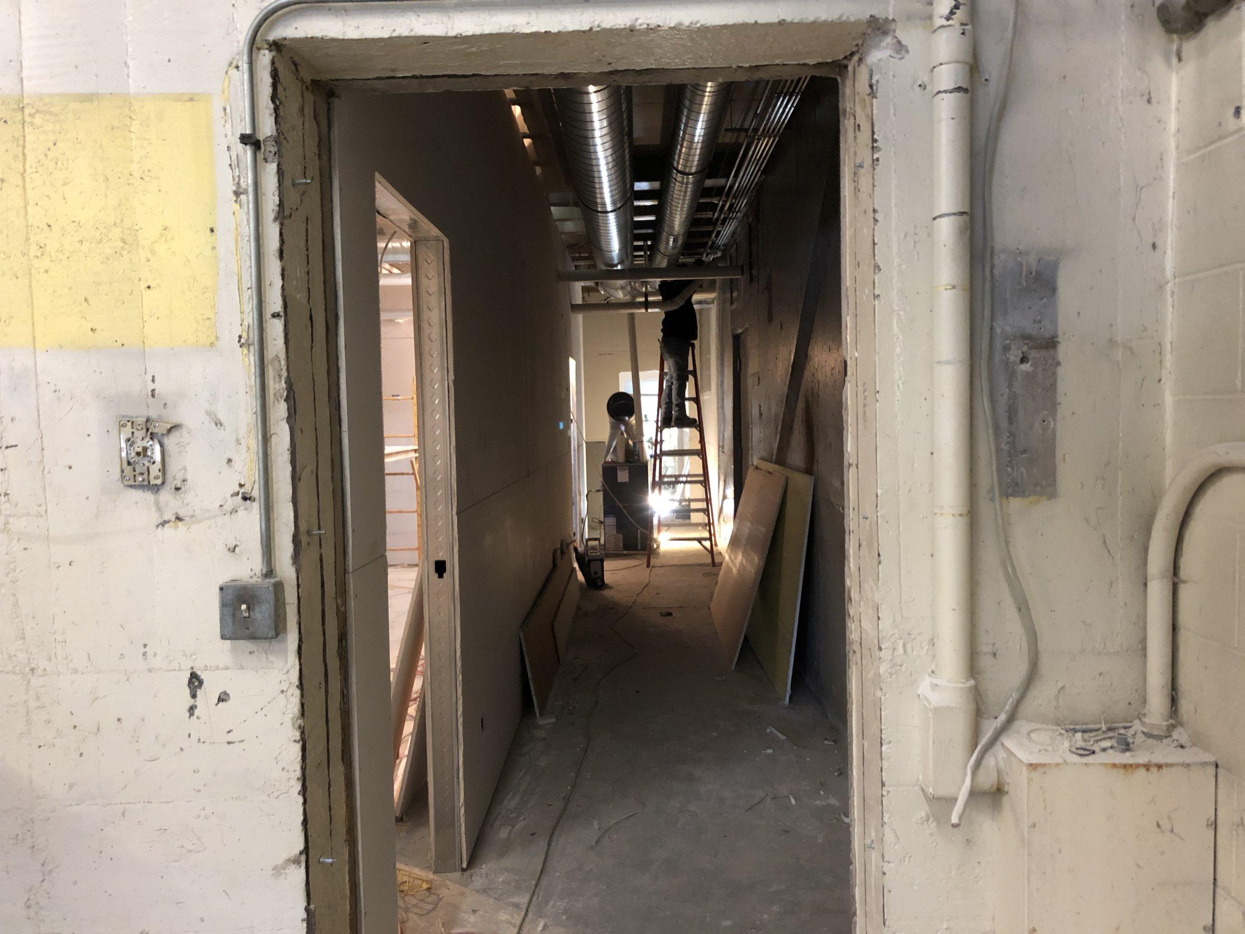 Hallway to Restrooms & Meeting Room