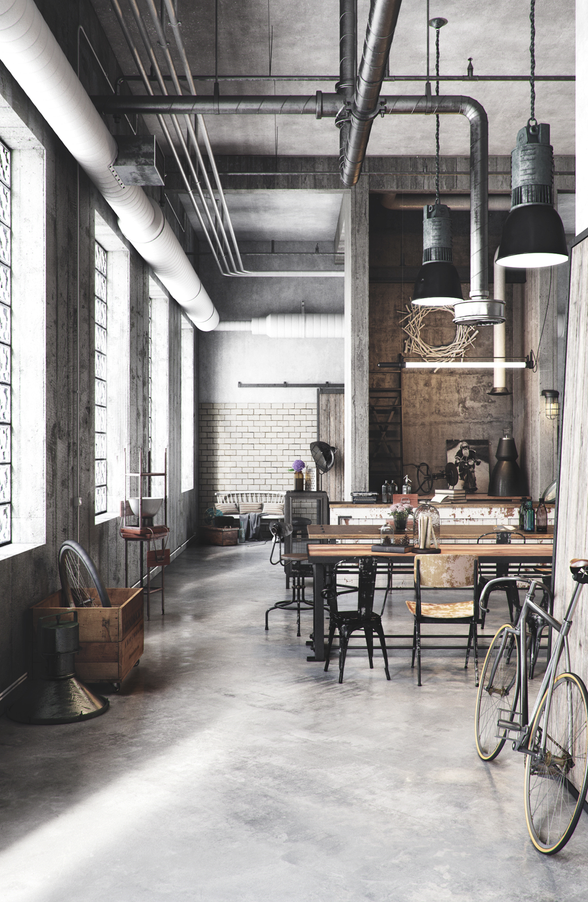 Craft Industry. Industrial Home.