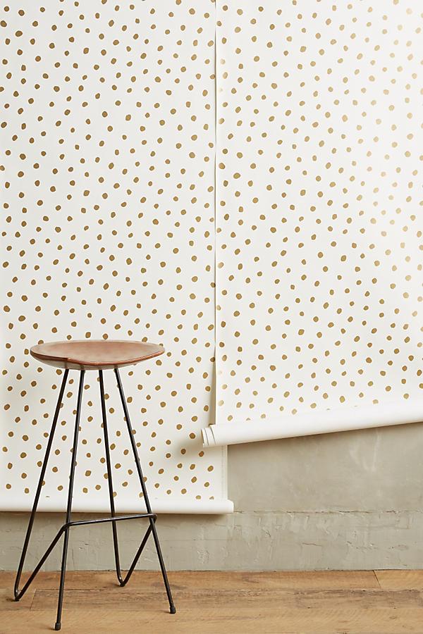 Anthropologie . Living Room. Wallpaper.