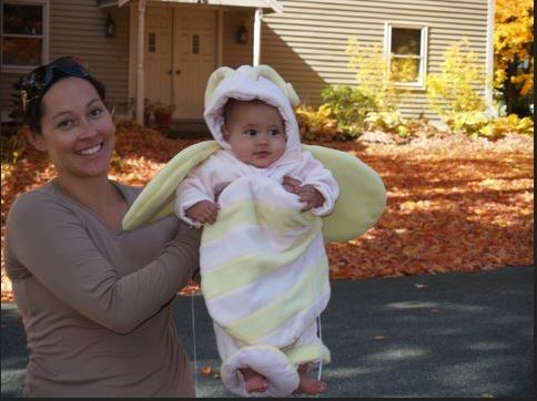 With my 5 1/2 month old daughter, still about 50lbs over my normal weight