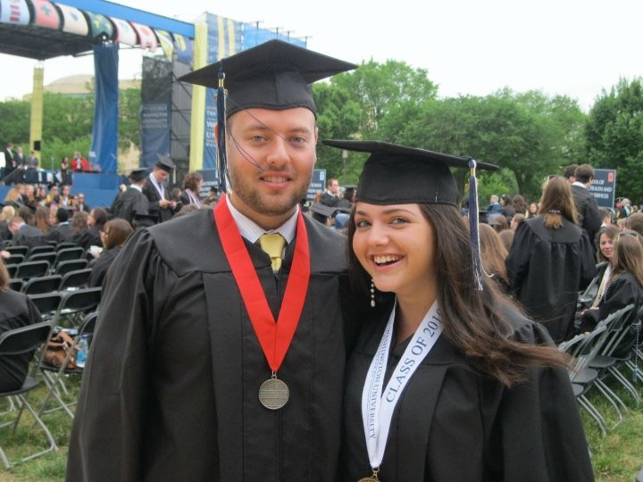 The two of us during our college graduation - Michelle Obama was our Commencement speaker!