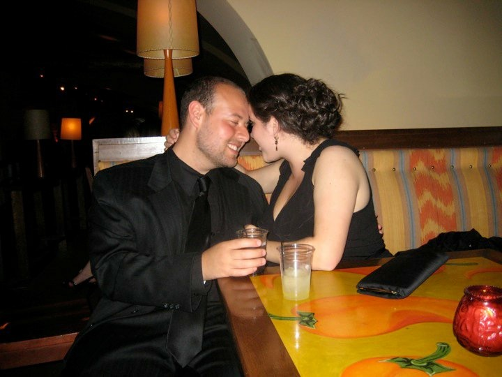 Michael and me at my last sorority formal in the spring of our senior year. We didn't know this photo was being taken!