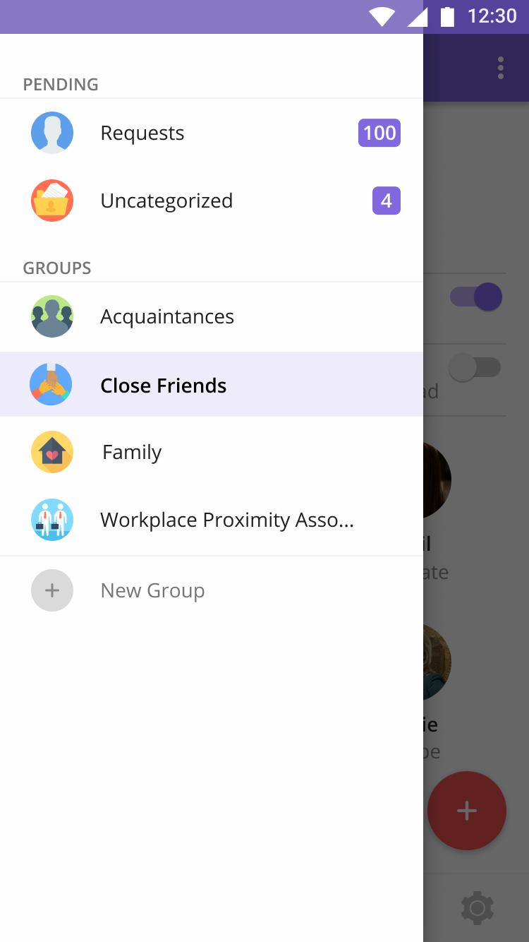Group Sidebar