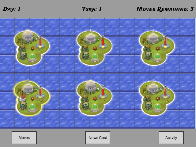 Game Home Screen (World Map)