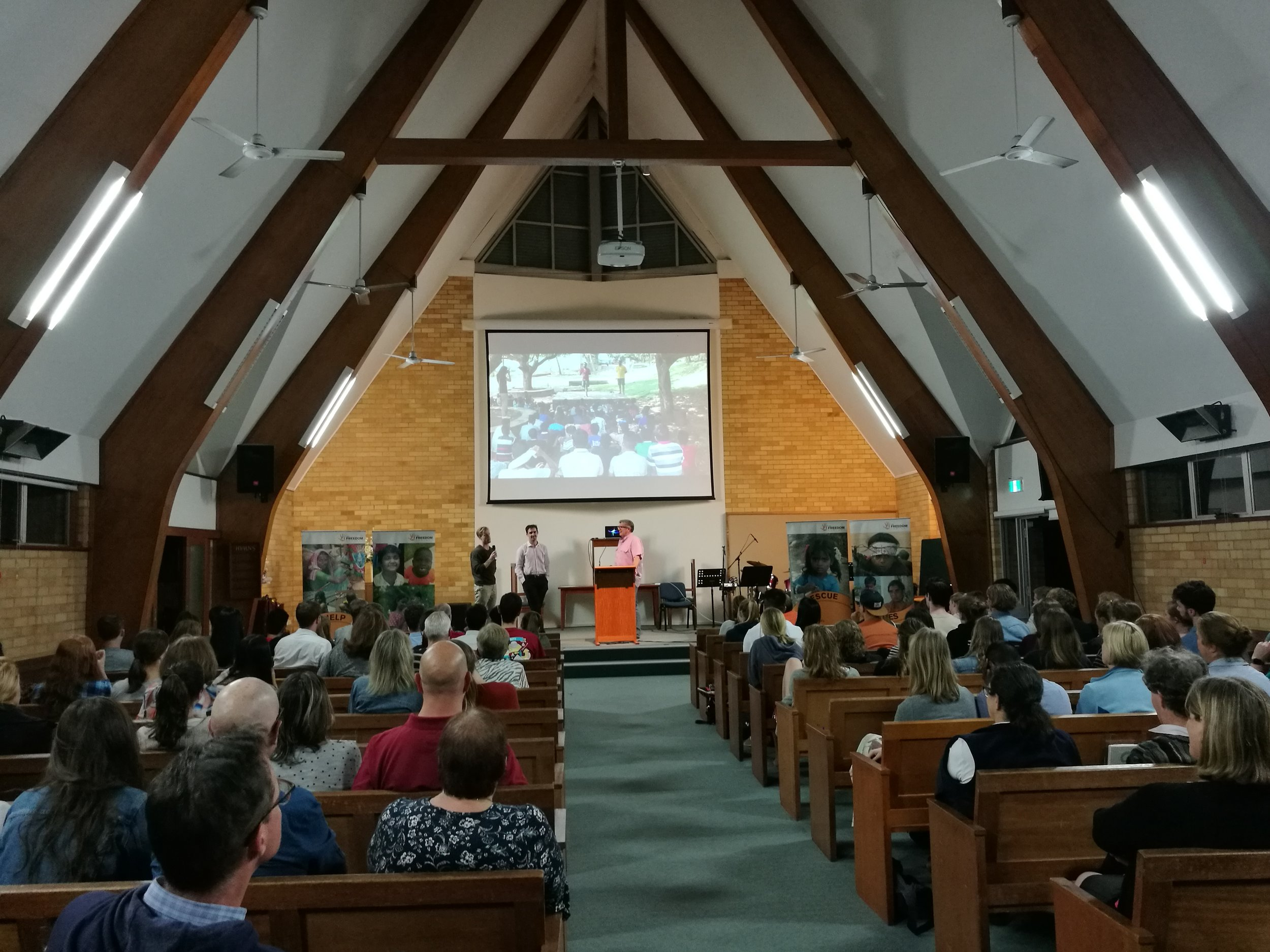 JUSTICE & FREEDOM FORUM 8 NOVEMBER 2017  The night was an opportunity for new and existing supporters to hear an update of our work, hear from those who had just gone to visit our projects in India, and even ask questions of our India field director.