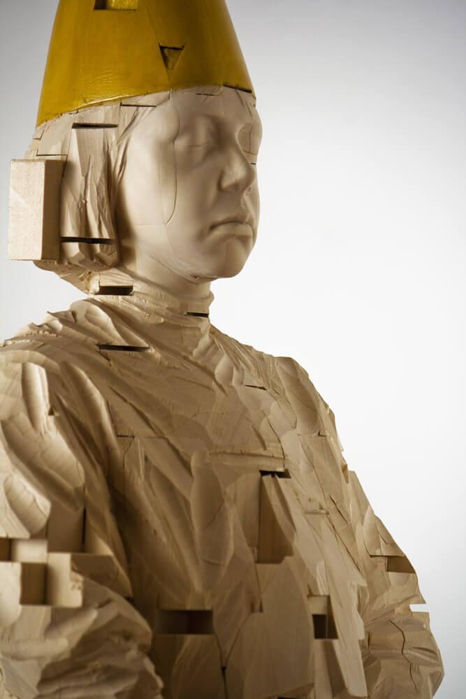 Your sweat (dettaglio), 2009, legno, 189 x 38 x 32 cm