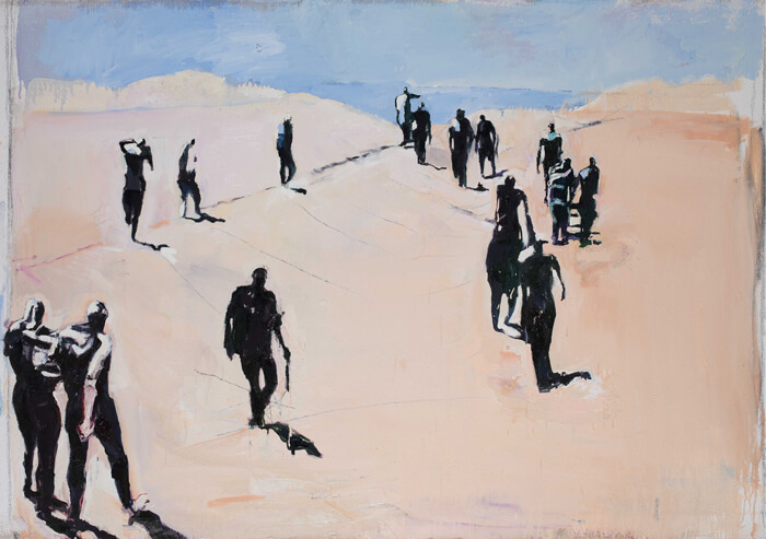 Verso il mare, 2015, olio su tela, 110x150 cm