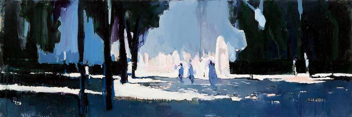 Galleria Borghese, 2005, olio su tela, 50x150 cm