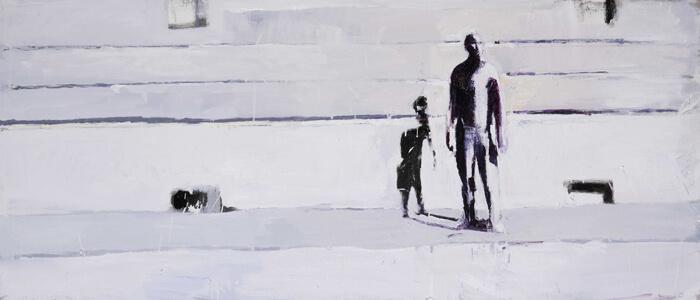 Canicola3, 2012, olio su tela, 60x140 cm