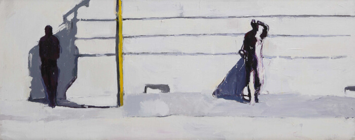Canicola4, 2012, olio su tela, 50x140 cm