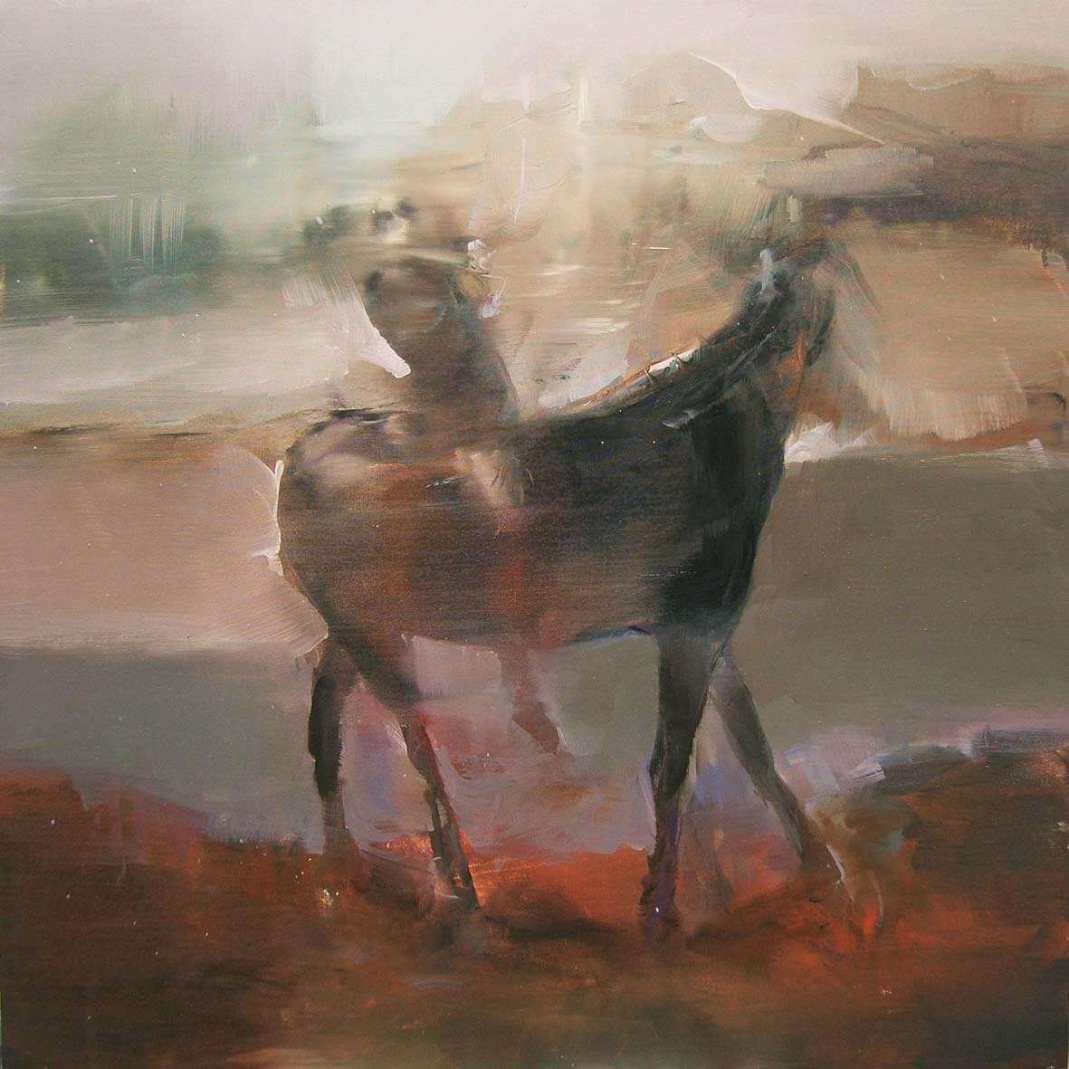Paul of Tarsus falls asleep and dreams IV, 2016, olio su tela, 60x60 cm