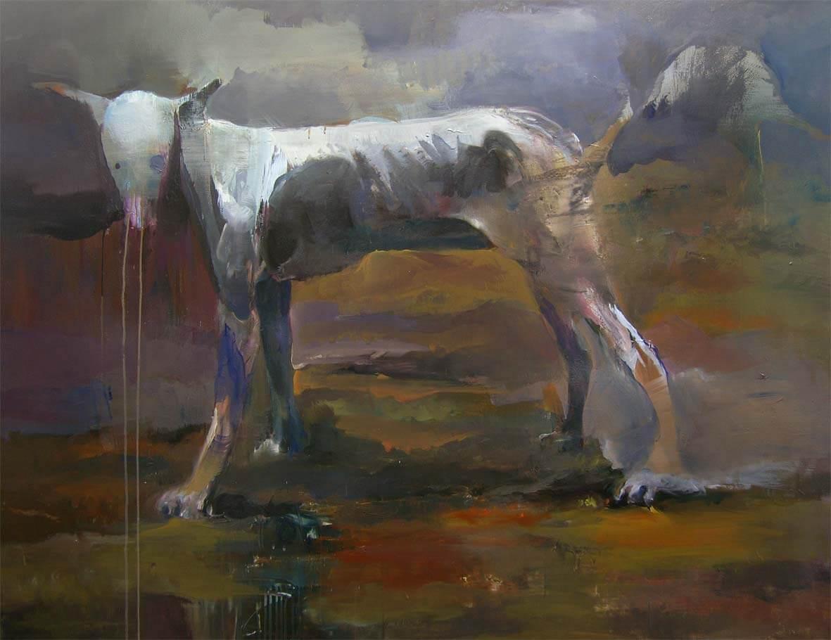 Dream #1 - I'm Julius in the Eden garden, 2016, olio su tela, 120x150 cm