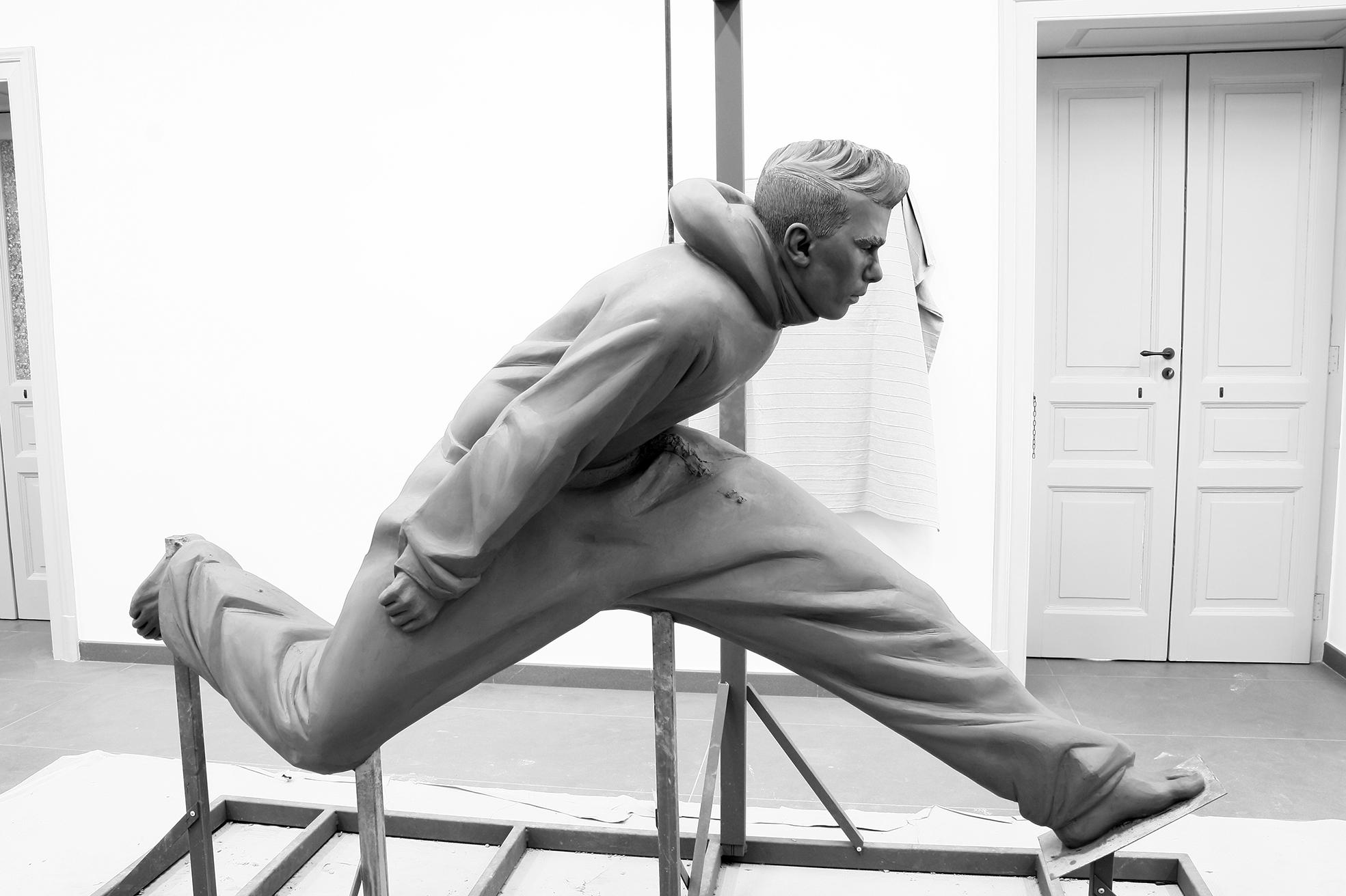"""""""scultura Stromboli"""" 2017 H 150cm x 180 cm x 35 cm , argilla per fusione a cera persa in alluminio"""