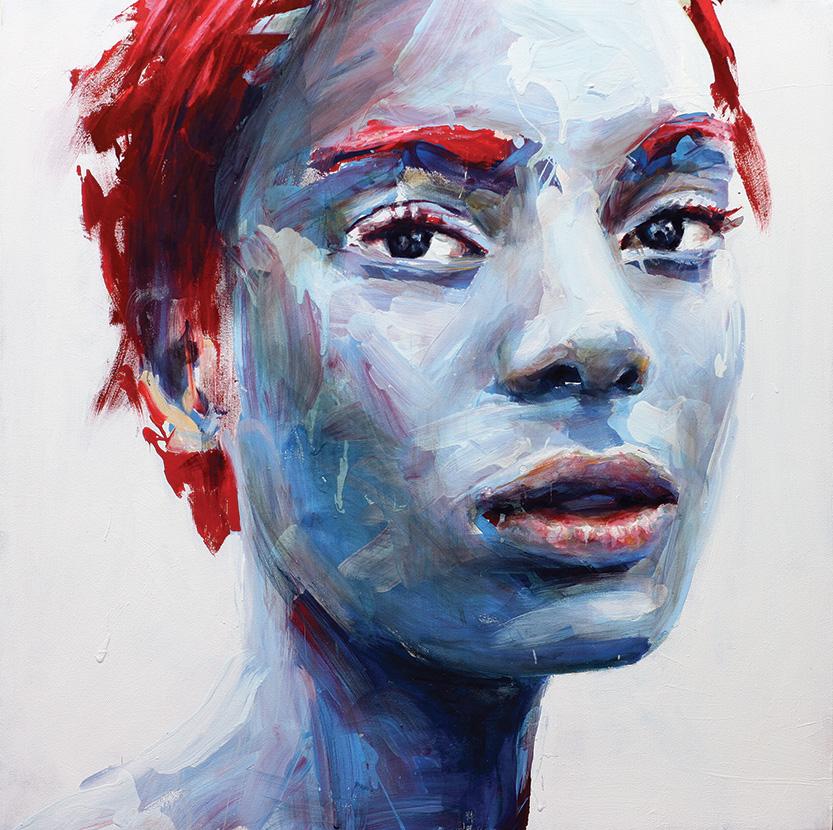 Blue Love, 2018, acrilico su tela, 80x80 cm