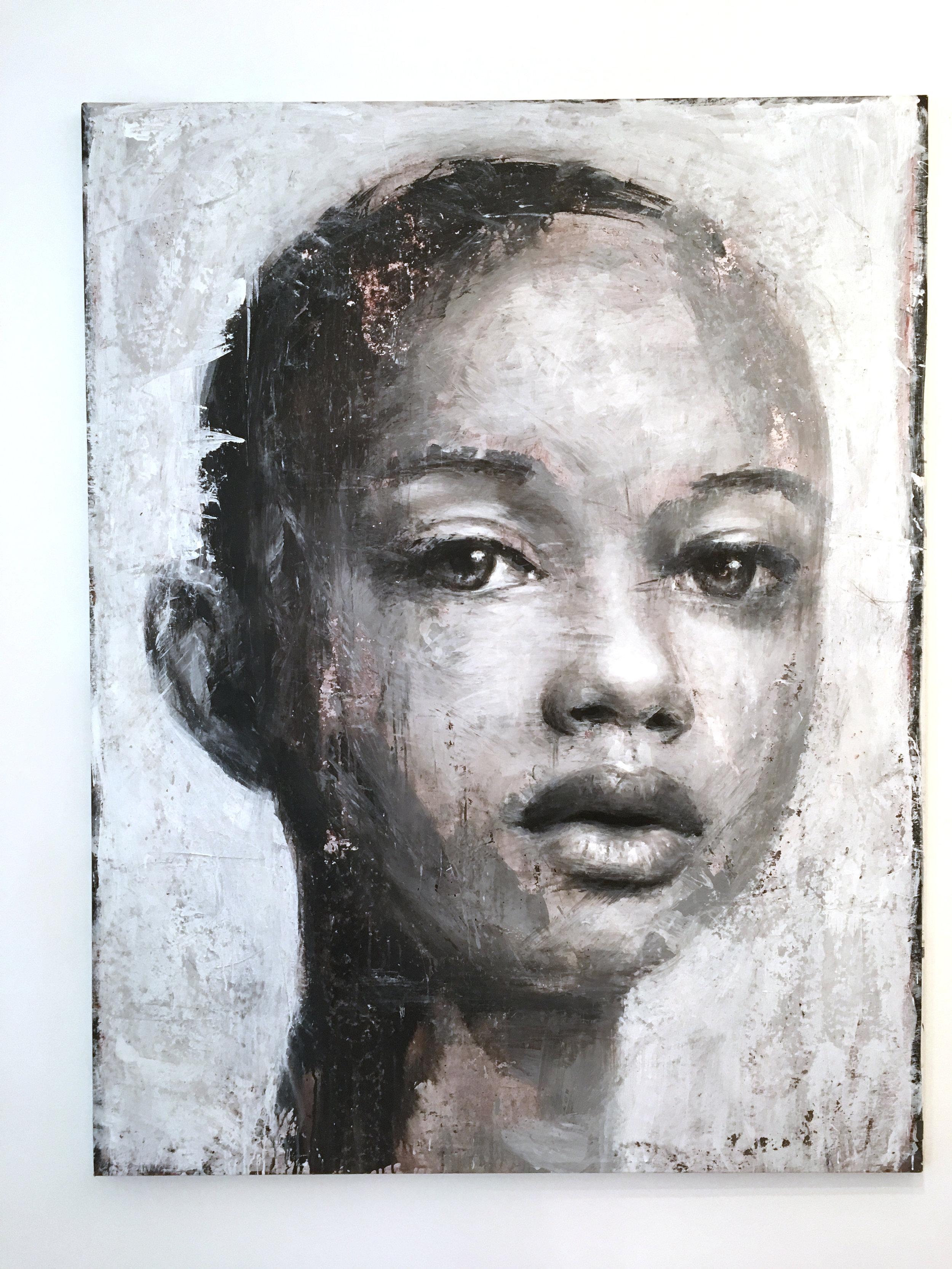 Presenza, 2018, acrilico su tela, 193x151 cm