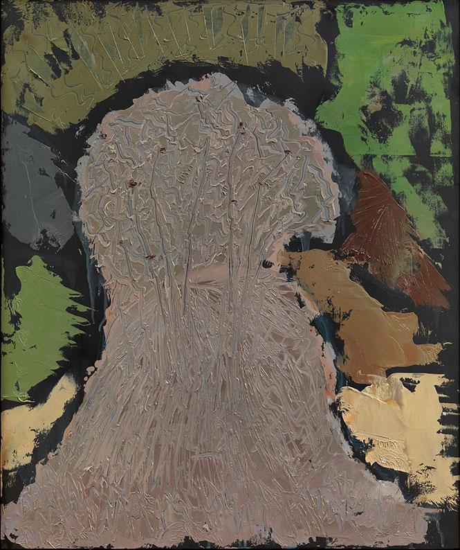 Cespuglio Brinato, 1993, olio su pannello, 60x50 cm
