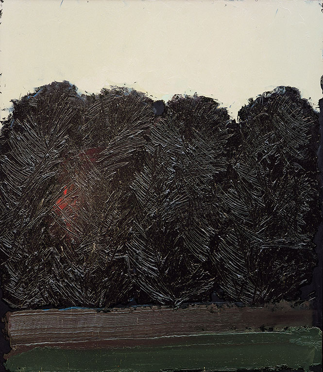 Alba 3, 1990,  olio su pannello, 80x70 cm