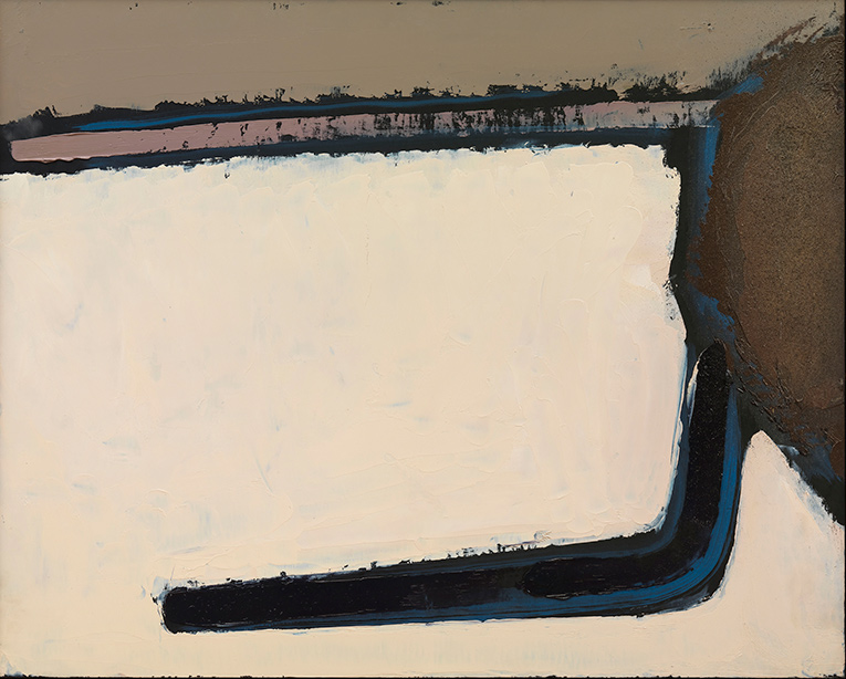 Neve 9, 1985, olio su pannello, 80x100 cm