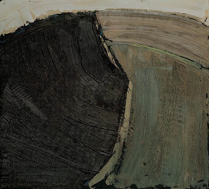 Terra Arida 4, 1981,  olio su pannello, 100x110 cm