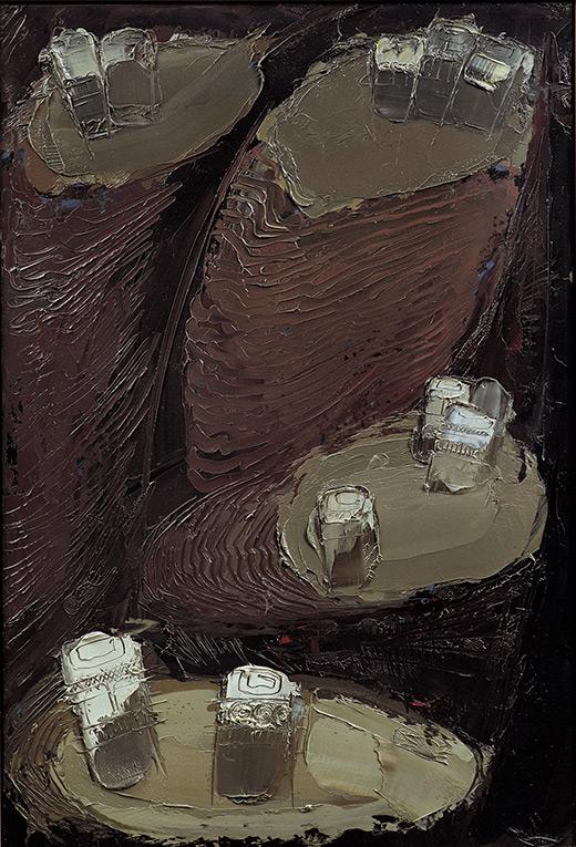 Yemen Montagne 6, 1971, olio su faesite, 110x75 cm