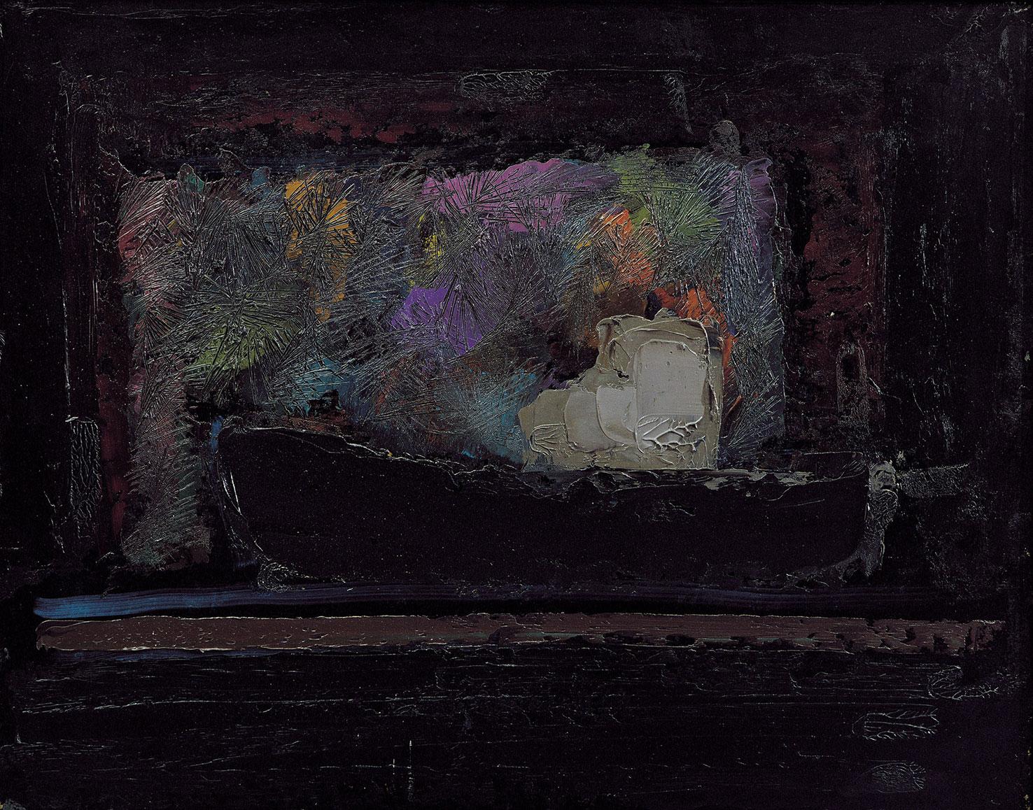 Brindisi Iri Notte, 1979, olio su masonite, 75x95 cm