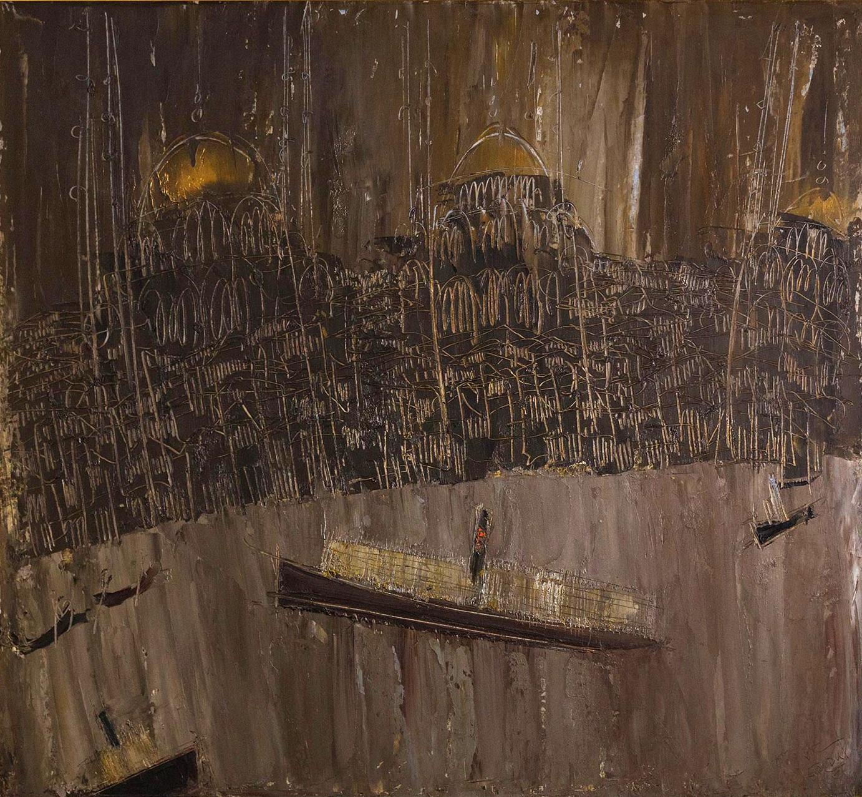 Istambul # 6, 1953, olio su masonite, 100x125 cm