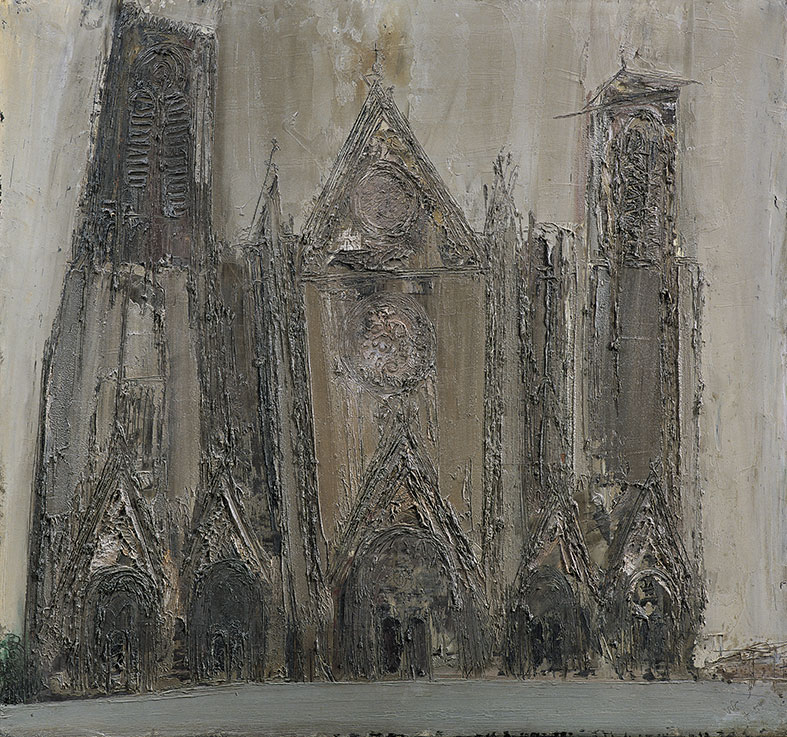 Bourges, 1954, olio su masonite,  96x91 cm