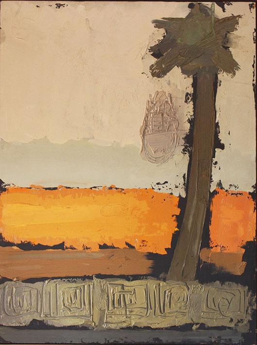 Africa 3 Cotonou, 1970, olio su tavola, 80X70 cm